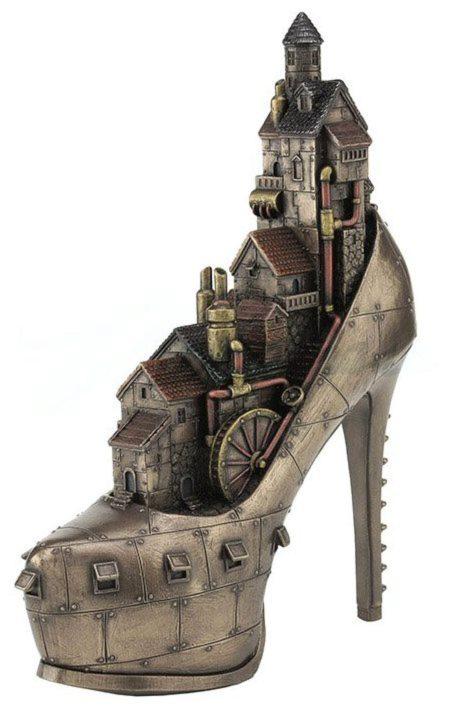 Photo of Steampunk Stiletto City Bronze Figurine