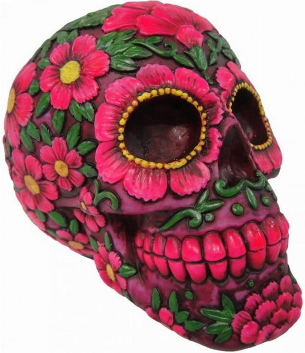 Photo of Sugar Blossom Skull Ornament Money Box 21.5cm