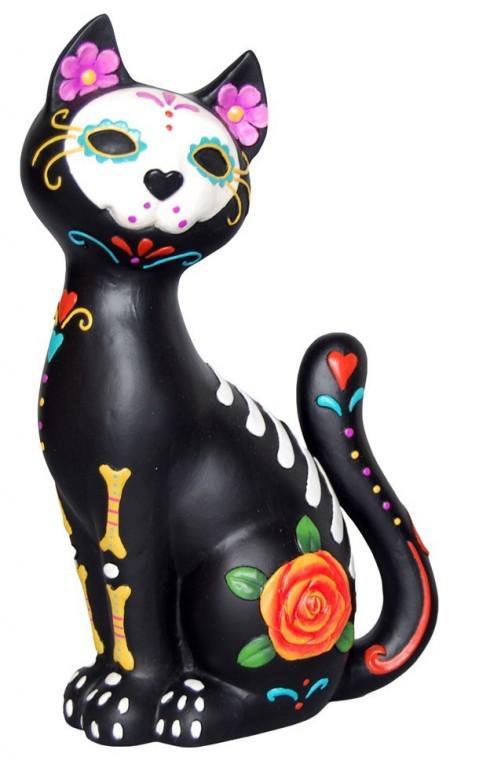 Photo of Sugar Skull Cat Figurine 26 cm