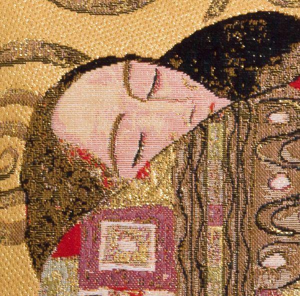 Phot of The Accomplishment By Gustav Klimt Tapestry Cushion Ii