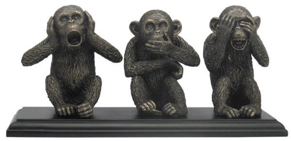 Photo of Three Wise Monkeys Bronze Figurine