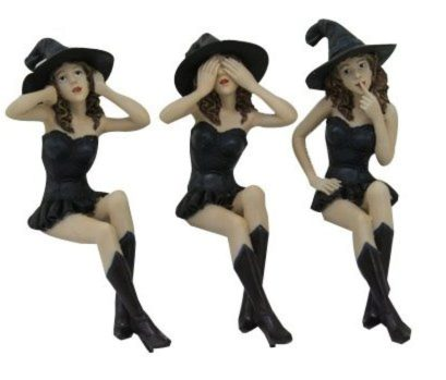 Photo of Three Wise Witches Shelf Sitters 16 cm