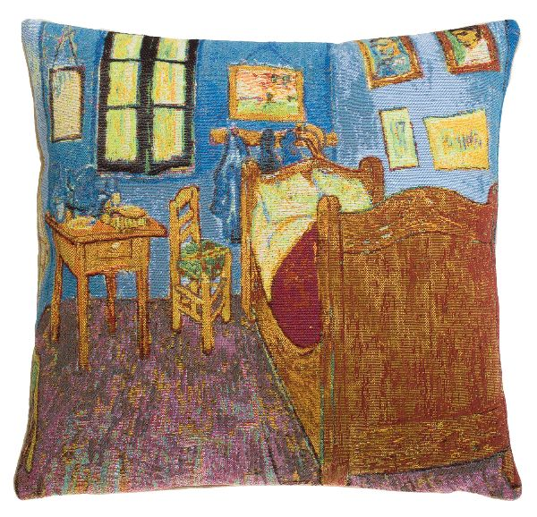 Phot of Van Gogh Bedroom In Arles Tapestry Cushion