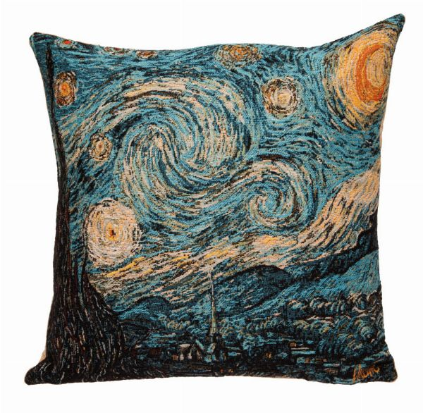 Phot of Van Gogh Starry Night Tapestry Cushion