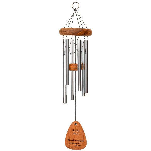 Phot of What We Have Once Enjoyed - in Loving Memory Memorial 18 Inch Wind Chime