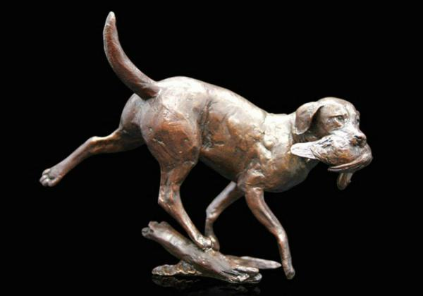 Photo of Working Labrador Bronze Figurine (Limited Edition) Michael Simpson