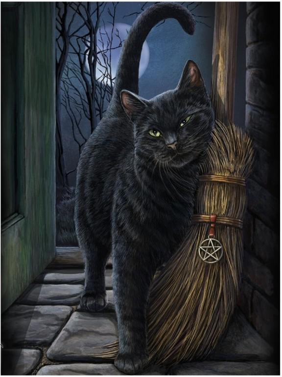 Photo of A Brush With Magic Black Cat 3D Picture (Lisa Parker) 28 x 38 cm