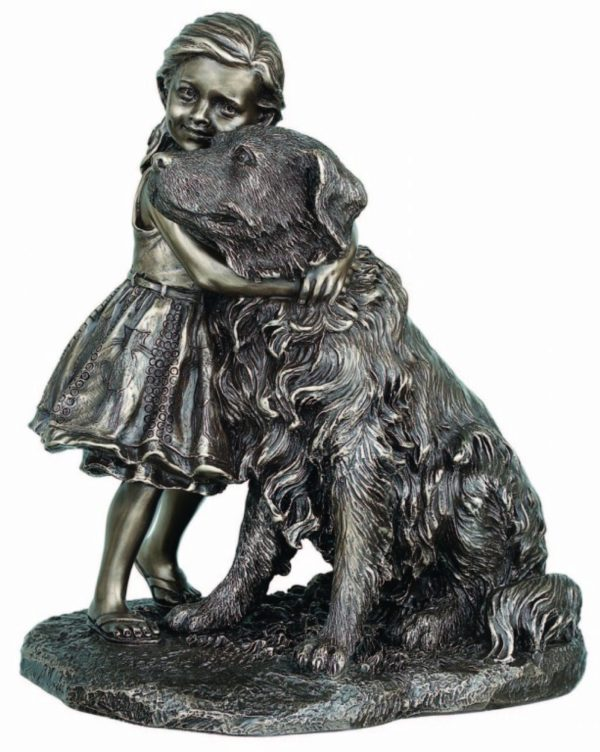 Photo of A Girls Best Friend Bronze Dog Figurine 22cm