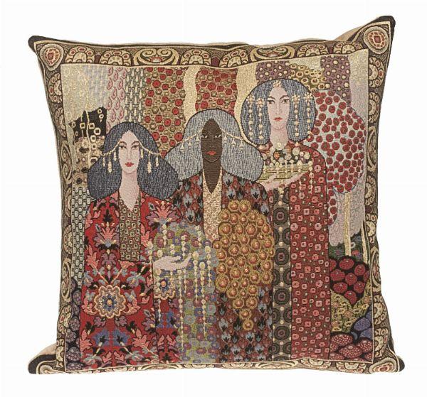 Phot of Aladin By Gustav Klimt Tapestry Cushion I