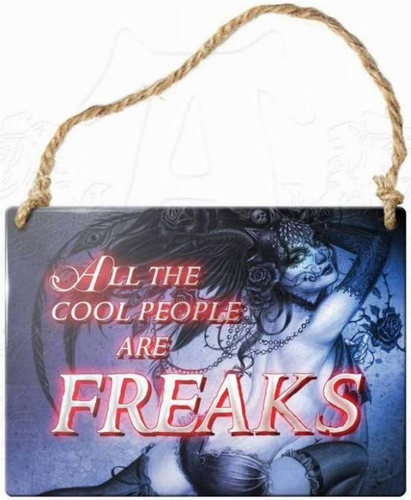 Photo of All The Cool People Are Freaks Small Steel Plaque