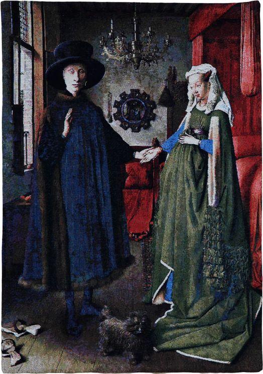 Phot of Arnolfini By Jan Van Eyck Wall Tapestry
