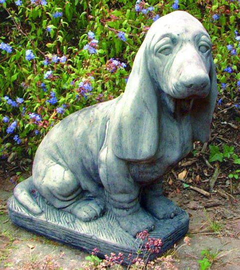 Photo of Basset Dog Stone Garden Ornament