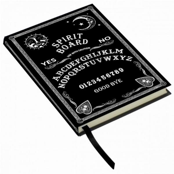 Photo of Black and White Spirit Board Embossed Journal 17cm