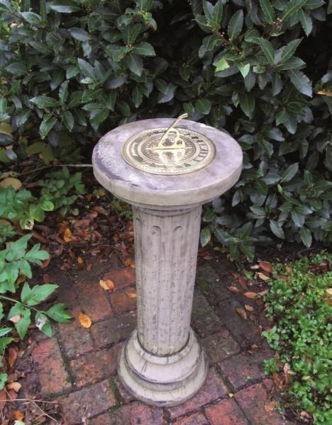 Photo of Brighton Stone Column with Brass Sundial