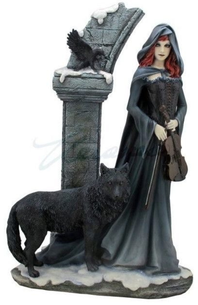 Photo of Cloaked Gothic Lady Figurine 38 cm Large