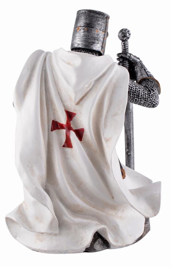 Crusader Knight Kneeling Figurine   Gothic Gifts