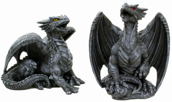 Photo of Dark Dragon Figurines (Set of 2) 10cm