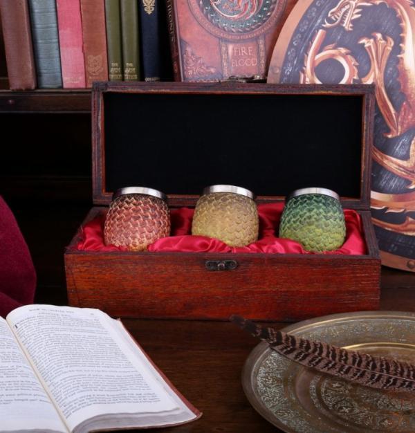 Photo of Drogon, Rhaegal, Viserion Dragon Egg Shot Glasses Game of Thrones