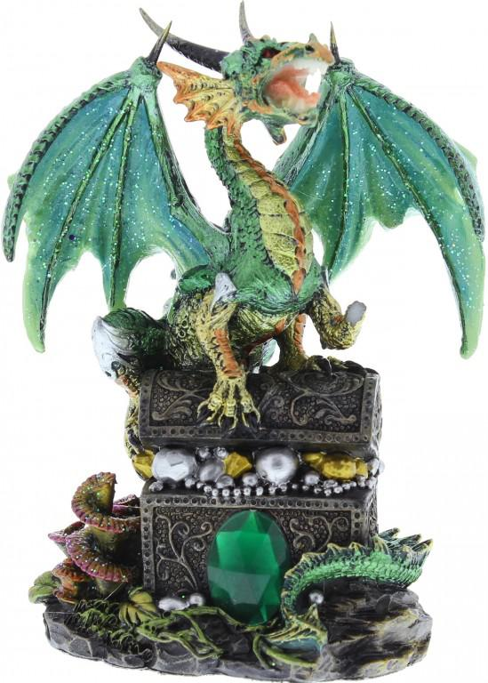 Photo of Emeraldfyre Dragon Sitting on Treasure Chest