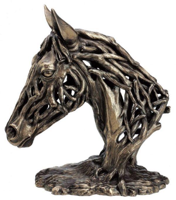 Photo of Endurance Horse Head Contemporary Bronze Figurine Large 35 cm