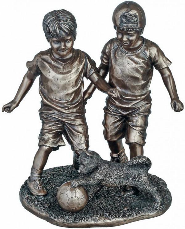 Photo of Footballers Bronze Figurine