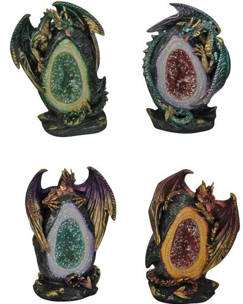 Photo of Geode Keepers Figurine (Set of 4) Light Features