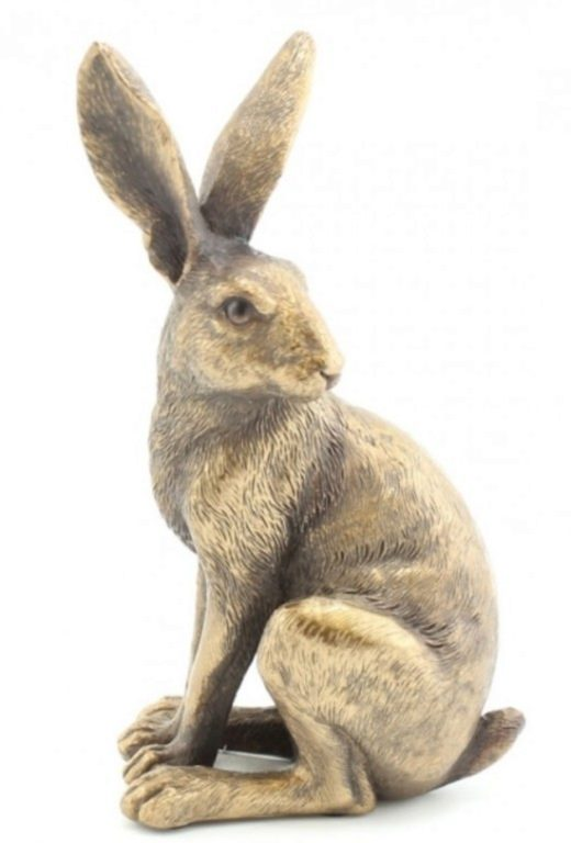 Photo of Hare Sitting Bronze Figurine Leonardo Collection 15cm