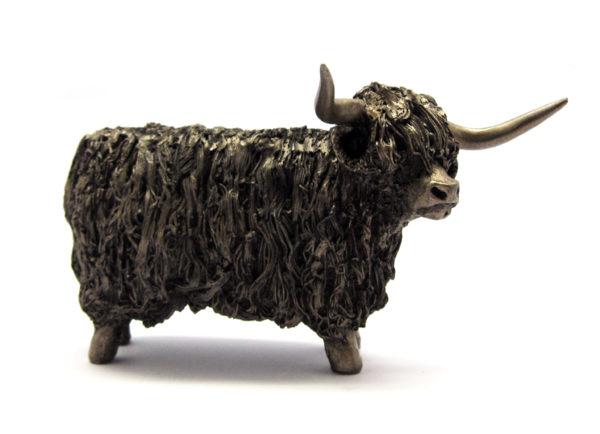 Photo of Highland Bull Standing Bronze Figurine Small