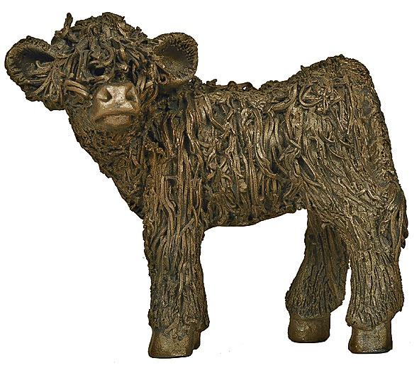 Photo of Highland Calf Standing Bronze Sculpture