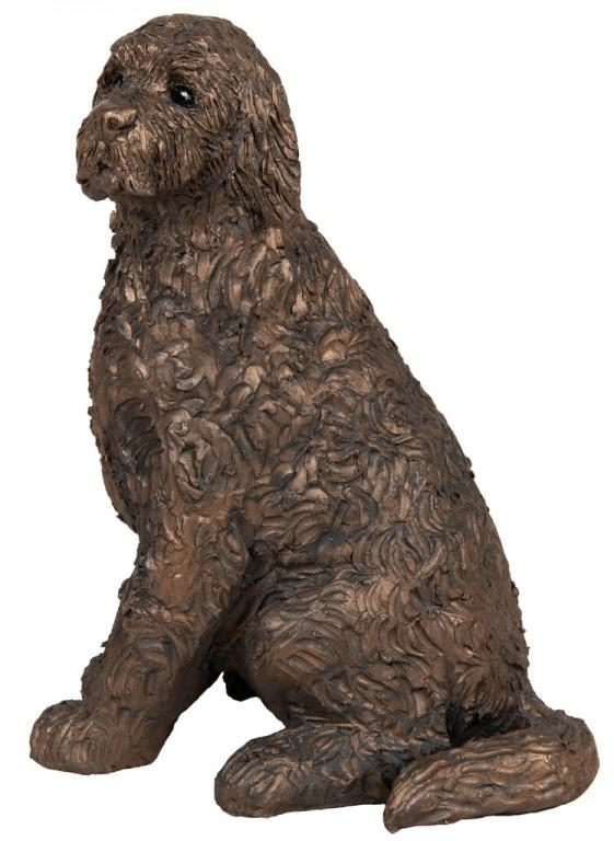 Photo of Jessie Cockapoo Sitting Bronze Figurine Paul Jenkins