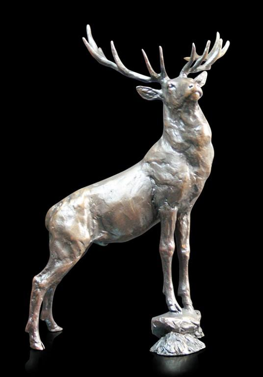 Photo of Lord of Stags Bronze Sculpture (Limited Edition) Michael Simpson