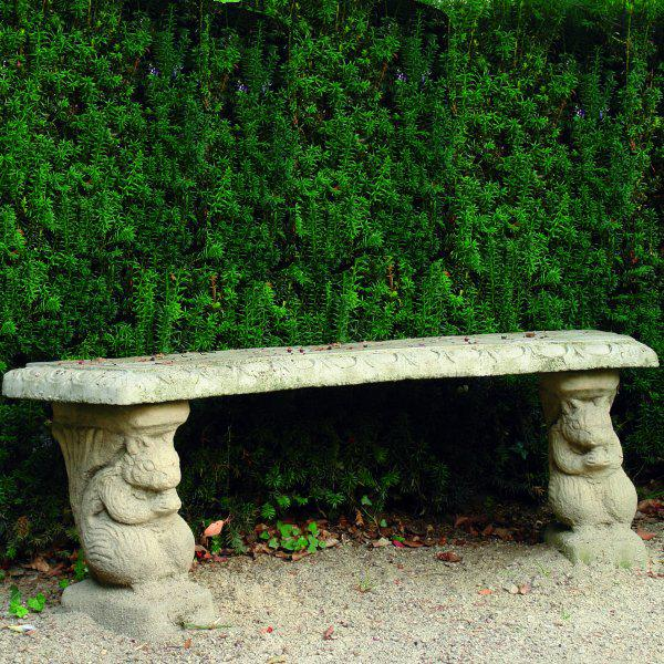 Photo of Patterned Squirrel Stone Bench