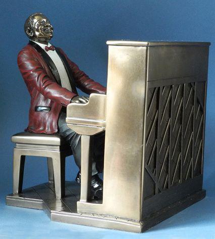 Photo of Piano Player Jazz Bronze Figurine 22.5cm