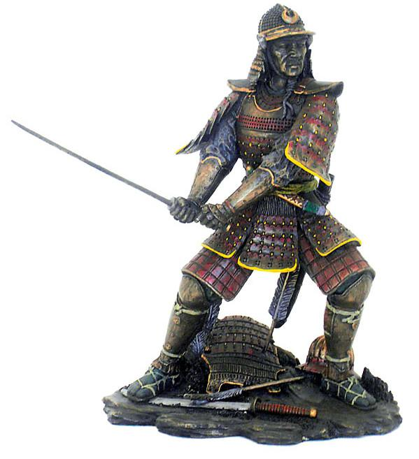 Photo of Samurai Attacking Bronze Figurine