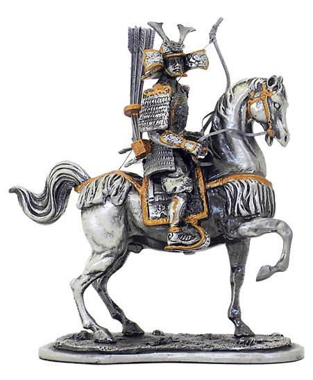 Photo of Samurai Warrior Horseback Archery Pewter Figurine