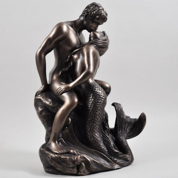 Photo of Seduction Bronze Mermaid Figurine (Love is Blue)