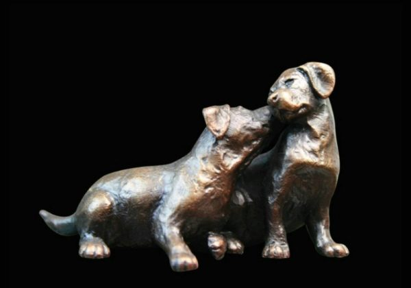 Photo of Small Labrador Puppy Pair Figurine (Limited Edition) Michael Simpson