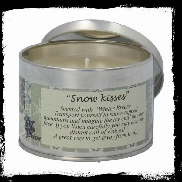 Photo of Snow Kisses Tin Scented Candle - Winter Breeze (Lisa Parker Wolf Artwork)