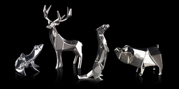 Photo of Stag Hallmarked Sterling Silver Miniature NOMI Design