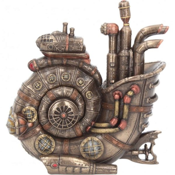 Photo of Steam Ammonite Bronze Figurine with Secret Compartment