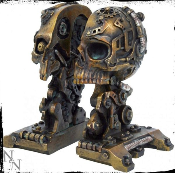 Photo of Steampunk Skull Bookends 18.5cm