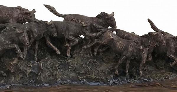 Photo of The Great Migration Figurine Wildebeest