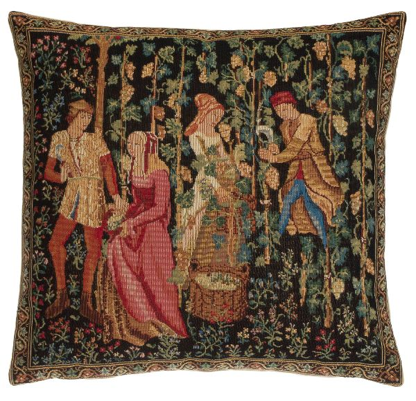 Phot of The Picking Grape Harvest Tapestry Cushion