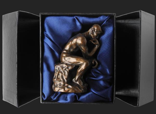 Photo of The Thinker Bronze Ornament 10 cm (Auguste Rodin) Small