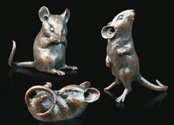 Photo of Three Little Mice Bronze Figurines (Limited Edition) Michael Simpson