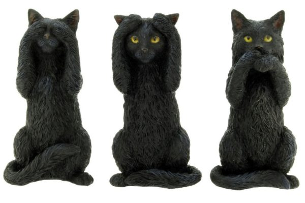 Photo of Three Wise Cats Figurine (Set of Three) 10 cm