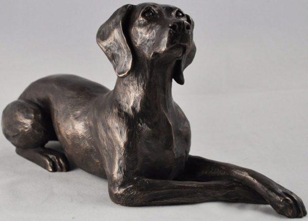 Photo of Weimaraner Bronze Dog Sculpture (Harriet Glen) 24cm