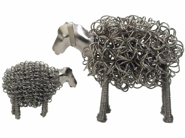 Photo of Wiggle Sheep Metal Sculpture Ornament