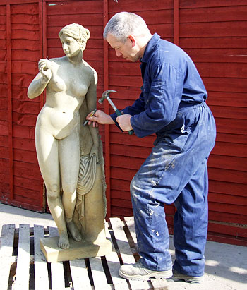 Statue being Sculptured