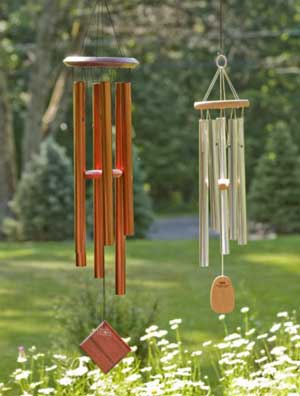 Large Wind Chimes in Garden